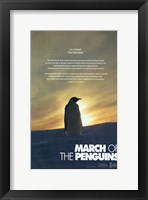 Framed March of the Penguins Silhouette
