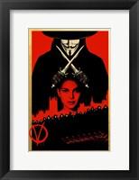 Framed V for Vendetta Black and Red