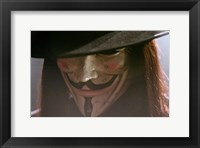 Framed V for Vendetta Close Up Screen Shot