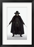 Framed V for Vendetta with Knives