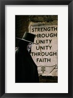 Framed V for Vendetta Sign