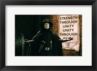 Framed V for Vendetta Sign Horizontal