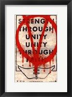 Framed V for Vendetta Strength Through Unity