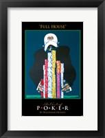 World Series of Poker Full House Framed Print