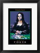 World Series of Poker Poker Face Art Spoof Framed Print