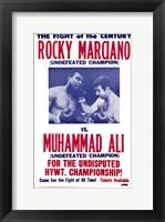 Framed Rocky Marciano vs Muhammad Ali