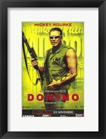 Framed Domino - Mikey Rourke
