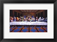 Framed Last Cartoon (last supper parody)