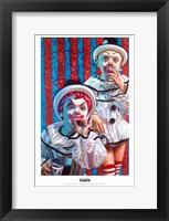 Framed Clown Kids Smoking