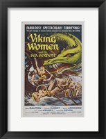 Framed Viking Women and the Sea Serpent
