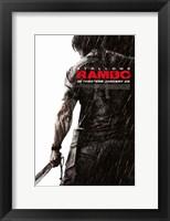 Framed Rambo - Rain