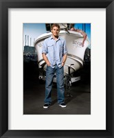 Framed Dexter with Boat