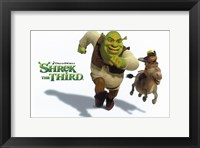 Framed Shrek the Third Racing Donkey