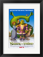 Framed Shrek the Third Royal Treatment
