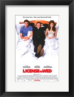 Framed License to Wed