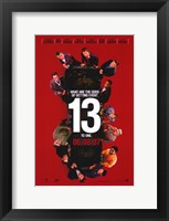 Framed Ocean's Thirteen (Red)