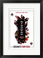 Framed Ocean's Thirteen (White)