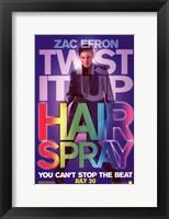 Framed Hairspray - Zac Efron