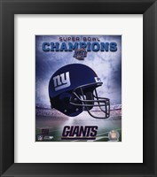 Framed New York Giants SuperBowl XLII Champions Helmet Photo
