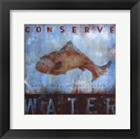 Conserve Water Framed Print