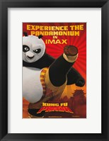 Framed Kung Fu Panda Kicking