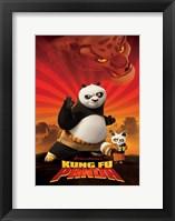 Framed Kung Fu Panda Crouching Tiger