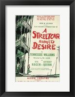 Framed Streetcar Named Desire (Broadway)