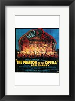 Framed Phantom of the Opera Fire to Opera House