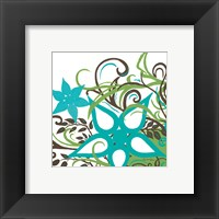 Floral Twist I Framed Print