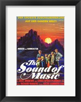 Framed Sound of Music Sunset
