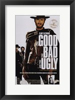 Framed Good, The Bad, and the Ugly Clint Eastwood