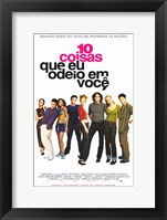 Framed Ten Things I Hate About You Portuguese