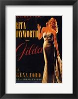 Framed Gilda Rita Hayworth Smoking