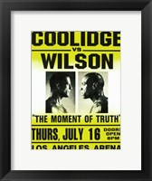 Framed Coolidge vs. Wilson Fight