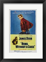 Framed Rebel Without a Cause Blue and Yellow