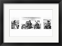 Framed Easy Rider (triptych)