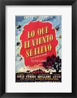 Framed Lo Que El Viento Se LLevo