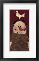 Framed Peace Snowman