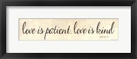 Love is . . . Framed Print