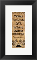 Trouble Hurried Away Framed Print