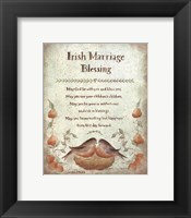 Framed Irish Marriage Blessing