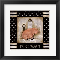 Hog Wash Framed Print