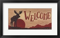 Framed Moose Welcome