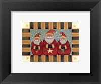 Framed Santa Trio