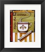 Enjoy the Aroma Framed Print