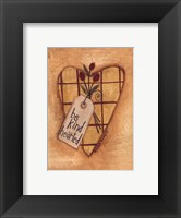 Kind Hearted Framed Print