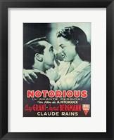 Framed Notorious Cary Grant Ingrid Bergmann