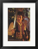 Framed Lord of the Rings: Fellowship of the Ring Frodo with Sword