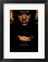 Framed Lord of the Rings: Fellowship of the Ring Frodo with Ring