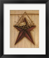 Framed Welcome Barn Star